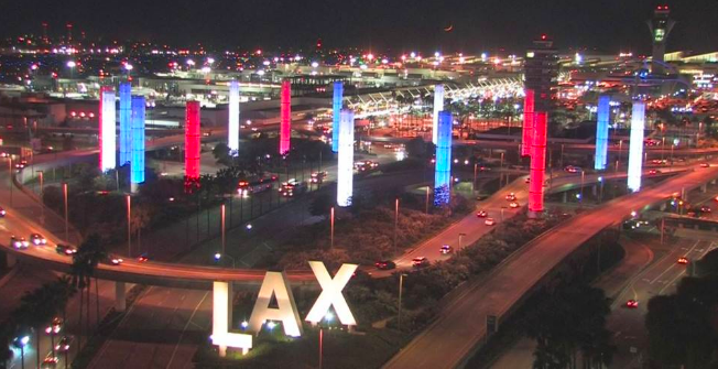 lights-at-lax-in-solidarity-with-nice-france-july-2016-lax-airport-limos-for-rent-los-angeles
